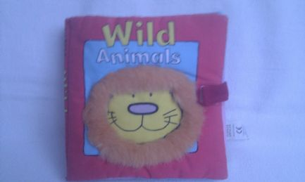 Adorable 'Wild Animals' 1st Baby Plush Book